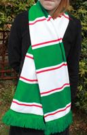 Image 2 of custom designed football scarf manufactured by Teritex